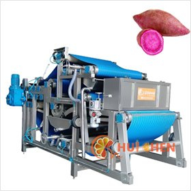 Belt-press-juice-extractor